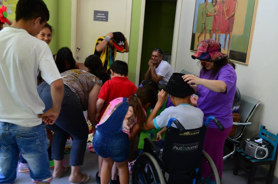 Clown en Centro Hospitalario Pereira Rossell Enero 2015