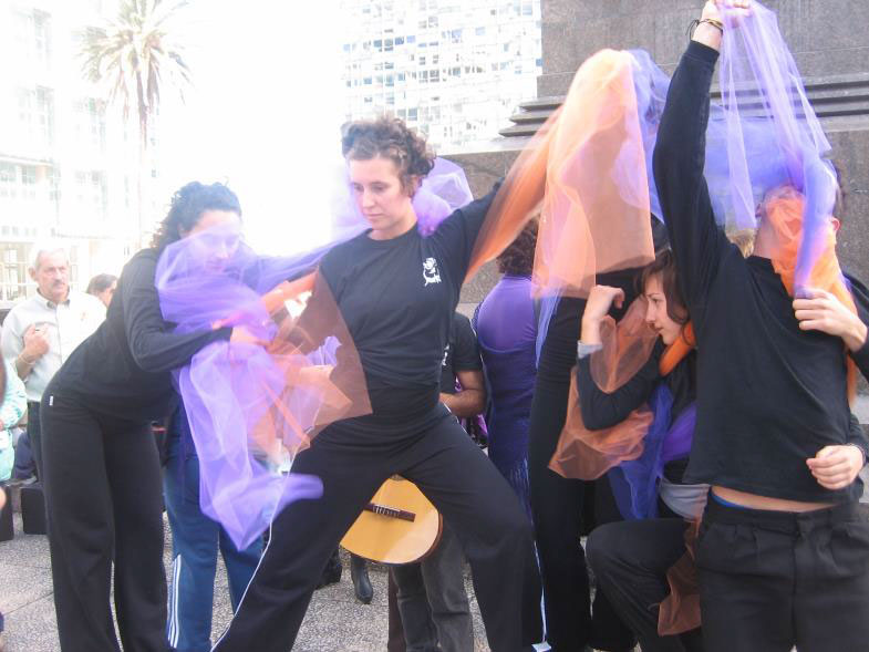 Concentration in Plaza Independencia International Day of Fibromyalgia